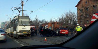 Sase masini au fost implicate intr-un accident in lant in Capitala. Una dintre victime a fost transportata la spital