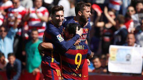 FOTBAL EUROPEAN. FC Barcelona a devenit CAMPIOANA in Primera Division. Luis Suarez a rezolvat cu un HATTRICK meciul de la Granada