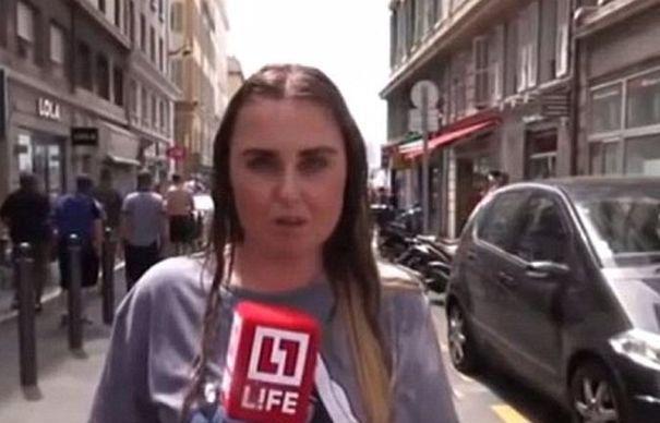 Suporterii nationalei Angliei AU AGRESAT o jurnalista din Rusia, turnandu-i bere in cap. Totul s-a intamplat IN DIRECT | VIDEO
