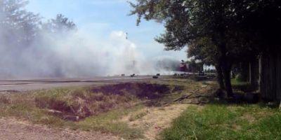Inca o nenorocire la Mihailesti: un microbuz a luat foc in mers