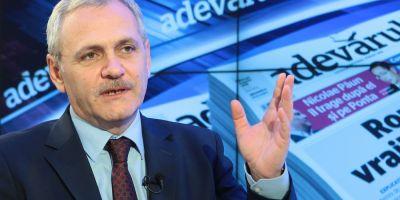 Liviu Dragnea, despre intentia PSD de a demite Guvernul Ciolos, miercuri, de la ora 11.00, la Adevarul Live