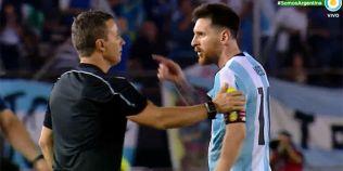 Lionel Messi, suspendat patru meciuri dupa ce a insultat un arbitru-asistent
