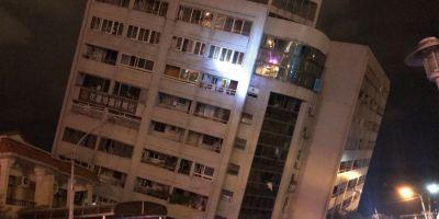 Cutremur puternic in Taiwan. Un hotel s-a prabusit partial. Autoritatile incearca sa salveze oamenii captivi in imobil